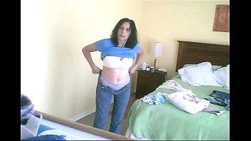 spy naked in bedroom