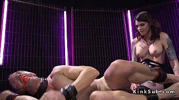 busty tranny dom anal fucks male.