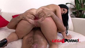 isabella clark anal stretching with gigantic dildos before.