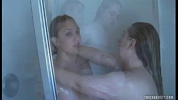 two big tits girls shower
