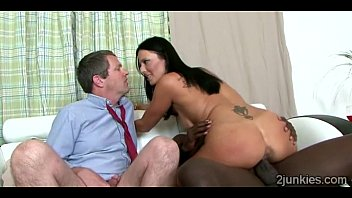 big stacked milf rides black thug in front.