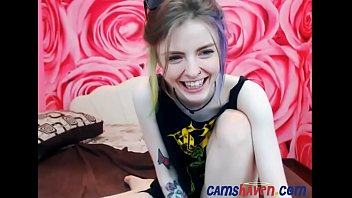 cute tattooed teen on webcam