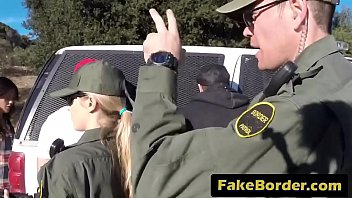 border patrol officers arrest and fuck a very.