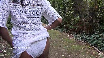 ebony babe mels teasing public flashing and outdoor.