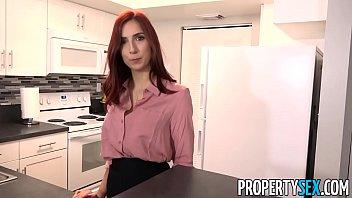 propertysex - hot redhead real estate agent fucks.
