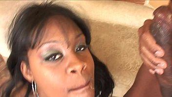ebony creampie after several handjobs