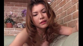 sassy japanese redhead in big tits giving a.