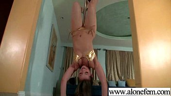 cute teen amateur playing with dildos.