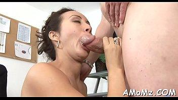 sexy mom is fingered and drilled