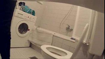 bathroom spycam at a german party