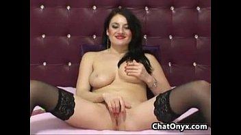 web cam slut wearing black stockings