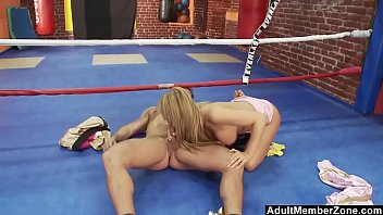 busty blonde boxer gets a sexual.