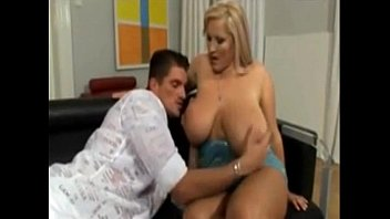 huge tit blonde bbw sucks him off after.