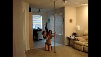 hot babes doing sexy pole dance.