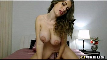 big boobs camgirl rides her toy.