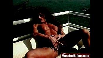 freaky muscled milf threesome