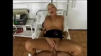 hot blonde nurse sucks patients dick and fuck.