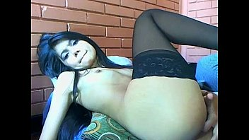 teen in black lingerie fingering her pussy on livespicycams.com