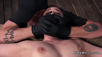 slave in device bondage with exposed.