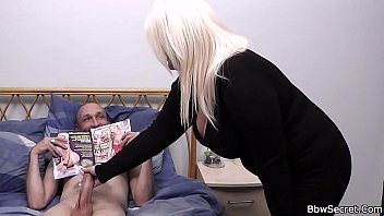 lovely big boobs blonde helps him.
