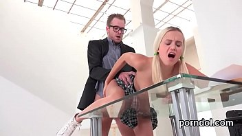 lovable schoolgirl gets teased and screwed by her.