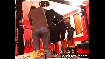 hot blonde gets tied and involved