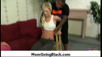 nasty mom rides huge black monster.
