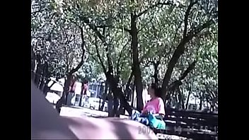 dick flashing in a park to nice smoking lady