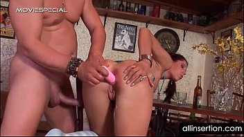 slut gets her both fuck holes nailed in public