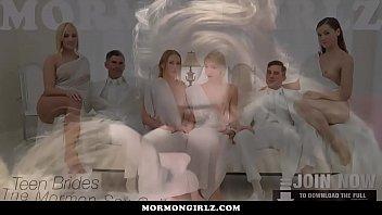 mormongirlz- three girl orgy under his.