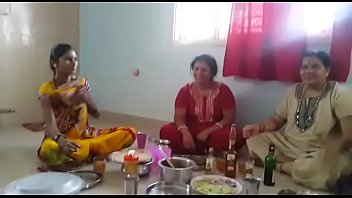 village aunties enjoying party with wine than fucking.
