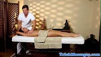 massage amateur pounded by masseur on.