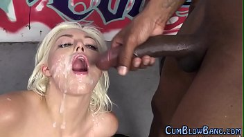 throated blonde gang bang