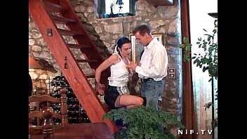 french maid gets her ass pounded with cock.