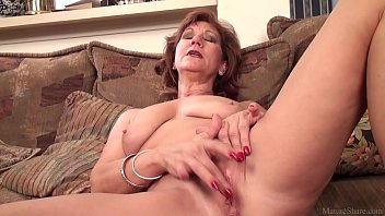 mature mom brook playing with her.