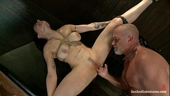 submissive anna tied and fucked