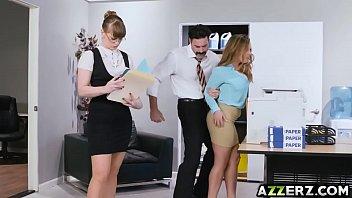 busty secretary natasha bangs with horny.