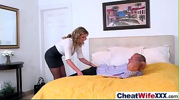 horny sexy wife (cory chase) cheats in hard.