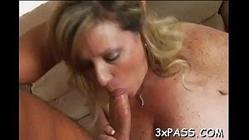 big tittied chubby woman is performing truly great fellatio