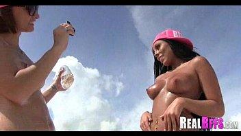 girlfriends have a beach orgy 216