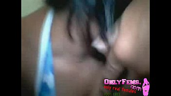 young amatuer couple giving a blowjob the webcam for