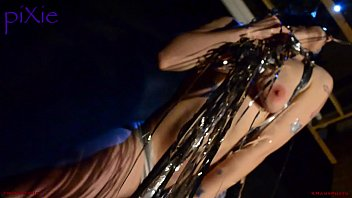 pixie topless, dancing at gutterbrain studios,.