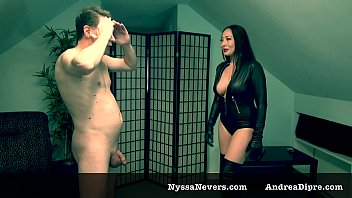 ballbusting: nyssa nevers gives 1 hard kick in.