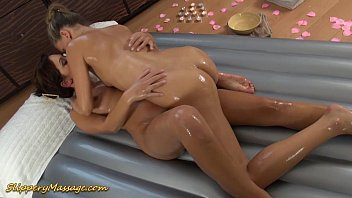 real lesbian slippery nuru massage sex