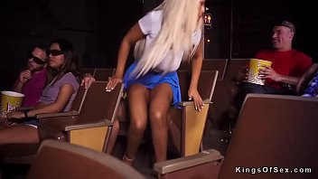 blonde fucks stranget in cinema