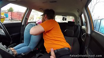 spanked ass blonde banged in car