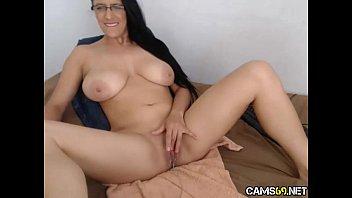 hot milf big tits pussy spread on webcam.