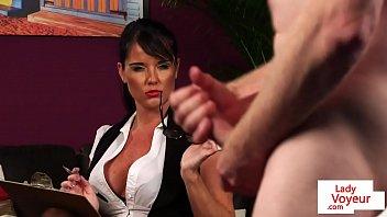 british milf voyeur instructs her sub.