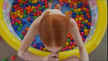 ginger hottie drew guy playing in the ball crawl