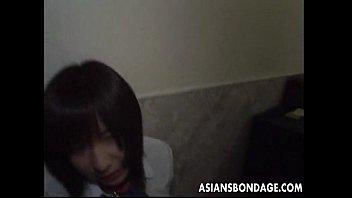 shy asian teen has a bdsm treatment she.